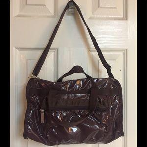 Lesportsac Shiny Brown w/dual & adjustable strap